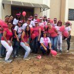 Acadêmicos e professores participaram das atividades do Outubro Rosa em Unaí