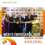 FACTU conquista o Mérito Empresarial 2020 pela ACE/CDL